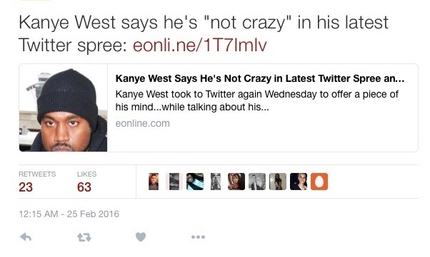 kanye west twitter account