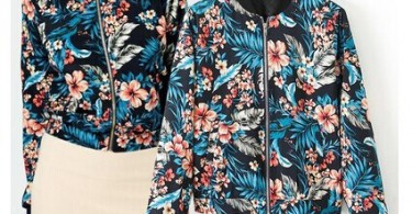 New-2014-spring-autumn-fashion-womens-Printing-flowers-font-b-floral-b-font-font-b-bomber
