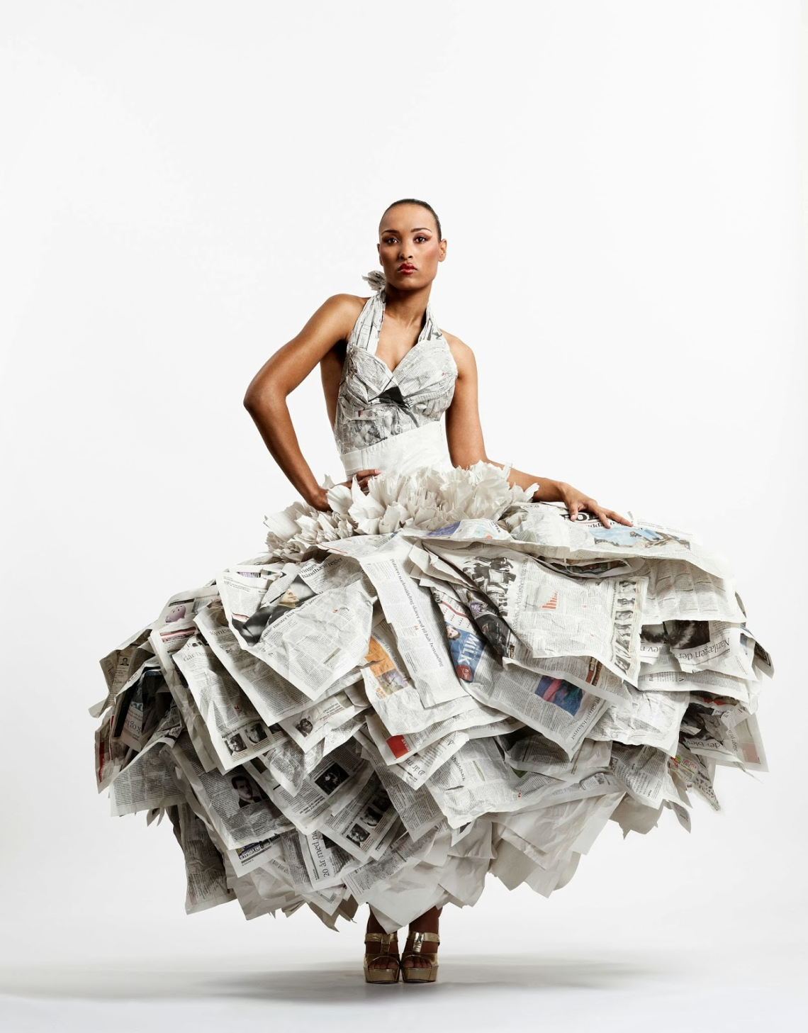 Платья из газеты своими руками фото