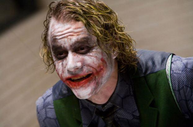 Heath Ledger as Joker in Dark Knight. Image: telegraph.co.uk